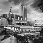 Stadthalle und Hotel Kongress Karl-Marx-Stadt by Rudolf Weißer & Wladimir Rubinow (Photo Institut für Regionalentwicklung und Strukturplanung Erkner, Courtesy Institut für Auslandsbeziehungen, IFA)