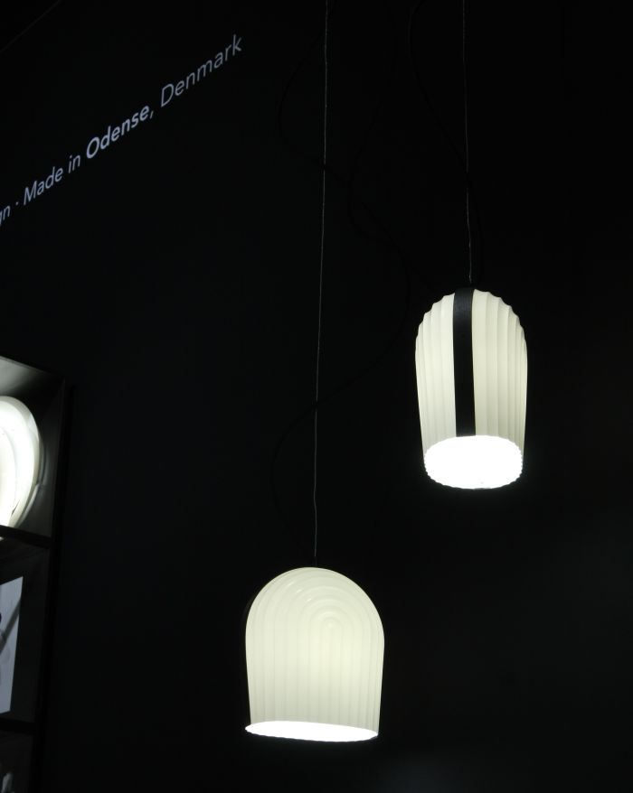 Arc pendant lamp by manér studio for le klint as seen at imm cologne 2018