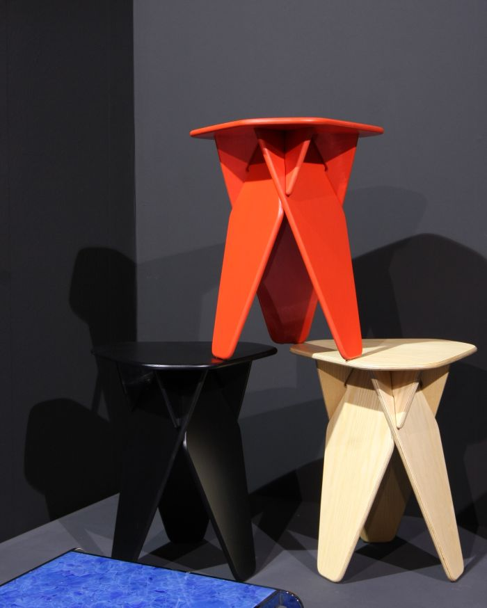 Wedge table/stool Andreas Kowalewski for Caussa, as seen at IMM Cologne 2018