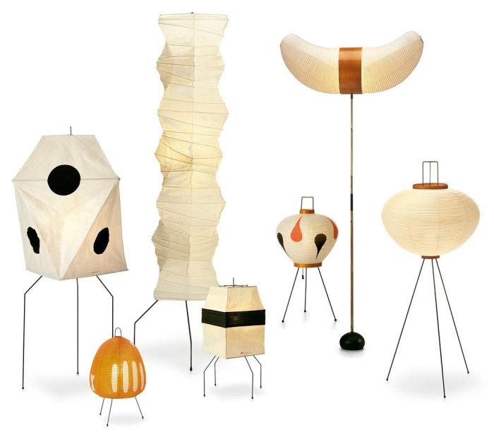 Akari lights sculptures by Isamu Noguchi through Vitra