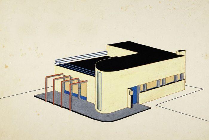 Carl Fieger. Vom Bauhaus zur Bauakademie @ Stiftung Bauhaus Dessau (Image Carl Fieger, o. T. (Siedlung Dessau-Törten, Haus Fieger, Ansicht und Grundrisse) © and courtesy Stiftung Bauhaus Dessau)