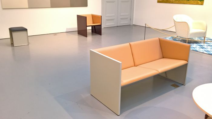 Lodger Sofa by Mats Theselius & Andreas Roths, as seen at INSIDE architecture by Åke Axelsson, Jonas Bohlin, Mats Theselius @ Konstakademien, Stockholm