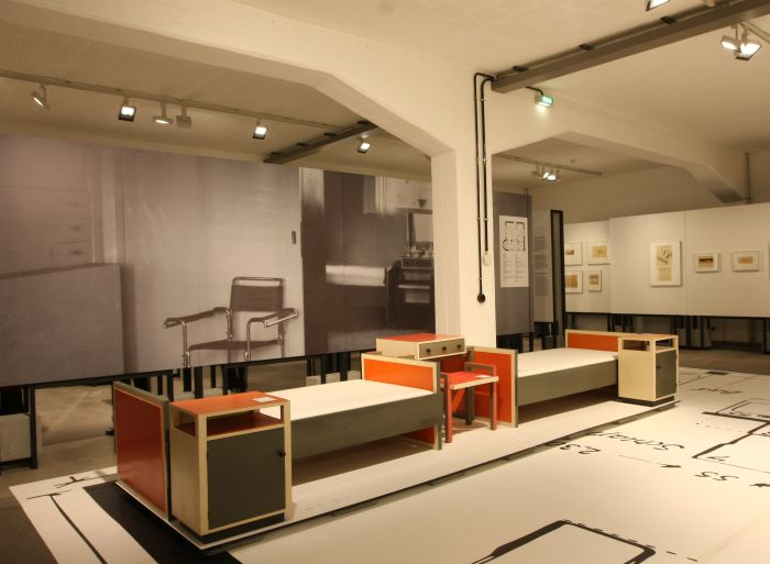 Bedroom furniture from Haus Fieger by Carl Fieger, as seen at Carl Fieger. From Bauhaus to Bauakademie, Stiftung Bauhaus Dessau