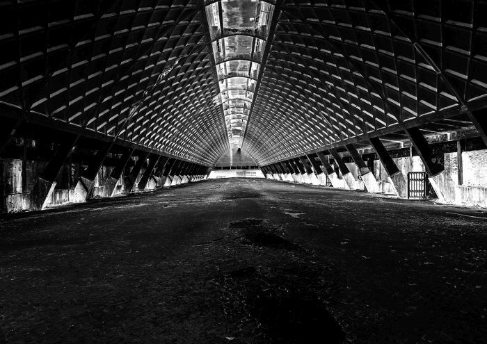 Pier Luigi Nervi Salt Storage Depot, Tortona, Italy (Photo courtesy Staatlichen Museen zu Berlin)