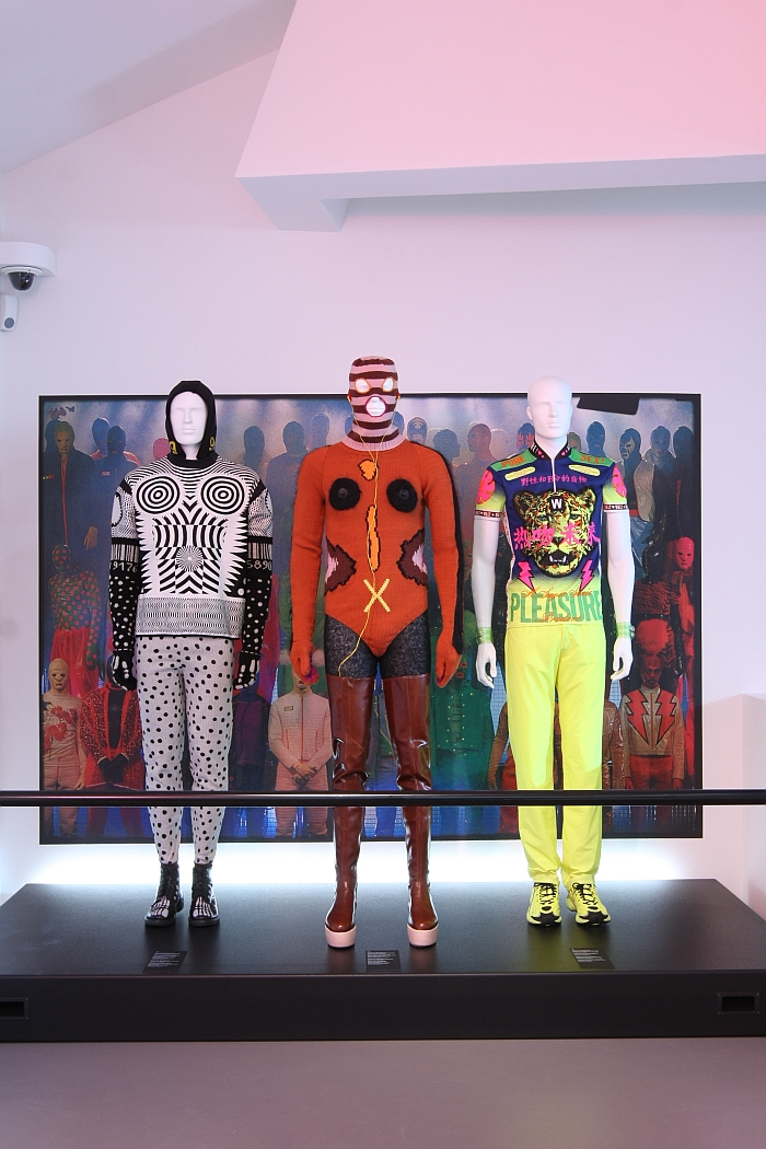 Brings back memories! Club clothing by Walter Van Beirendonck, as seen at Night Fever. Designing Club Culture 1960 - Today, Vitra Design Museum