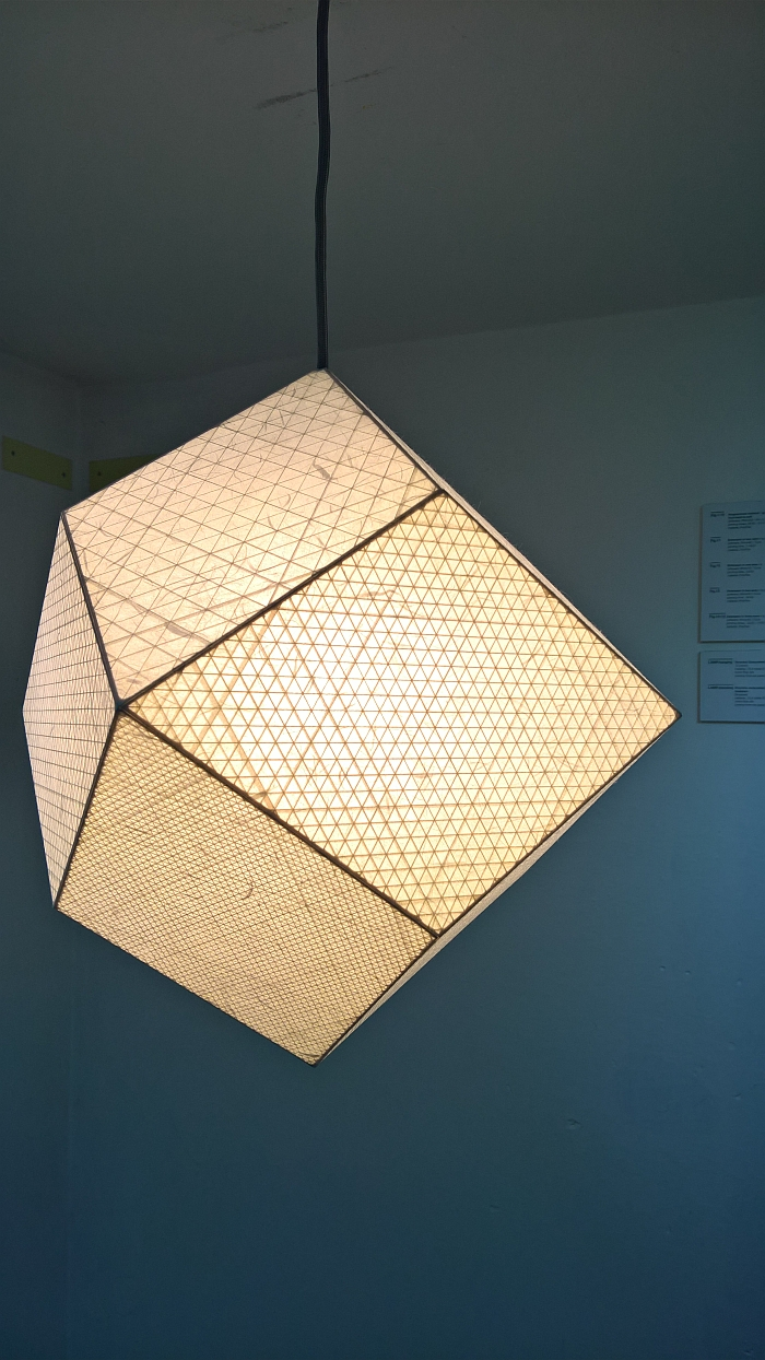 Panelight by Werteloberfell, the under-construction is a 3D printed mesh,