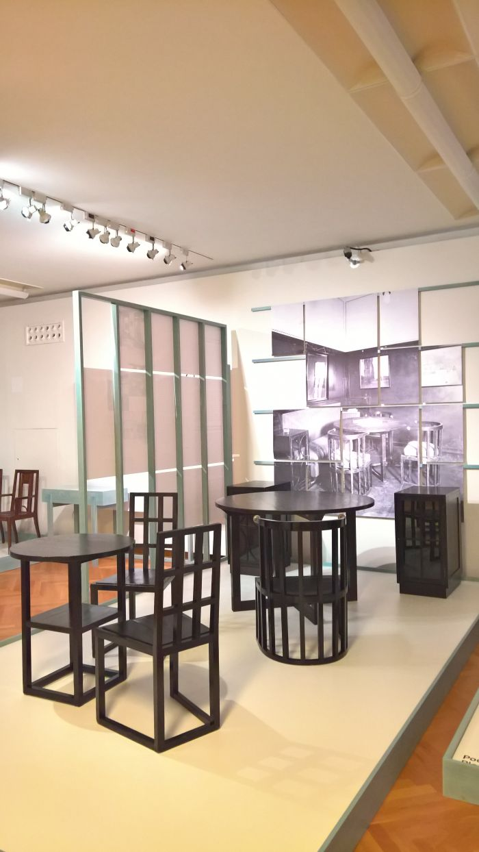 Imperial-Royal court and state printers furnishings by Josef Hoffmann, as seen at Wagner, Hoffmann, Loos and Viennese Modernist Furniture Design. Artists, Patrons, Producers