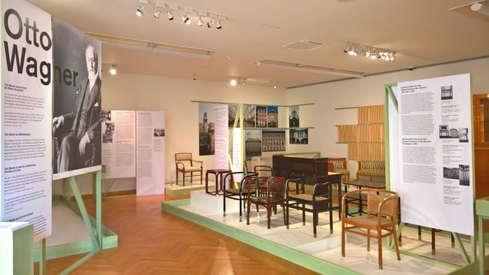 Otto Wagner, as seen at Wagner, Hoffmann, Loos and Viennese Modernist Furniture Design. Artists, Patrons, Producers