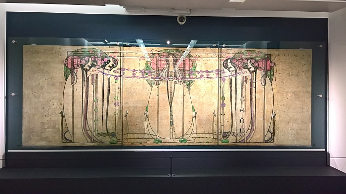 The May Queen by Margaret Macdonald, as seen at Charles Rennie Mackintosh. Making the Glasgow Style, Kelvingrove Art Gallery and Museum, Glasgow