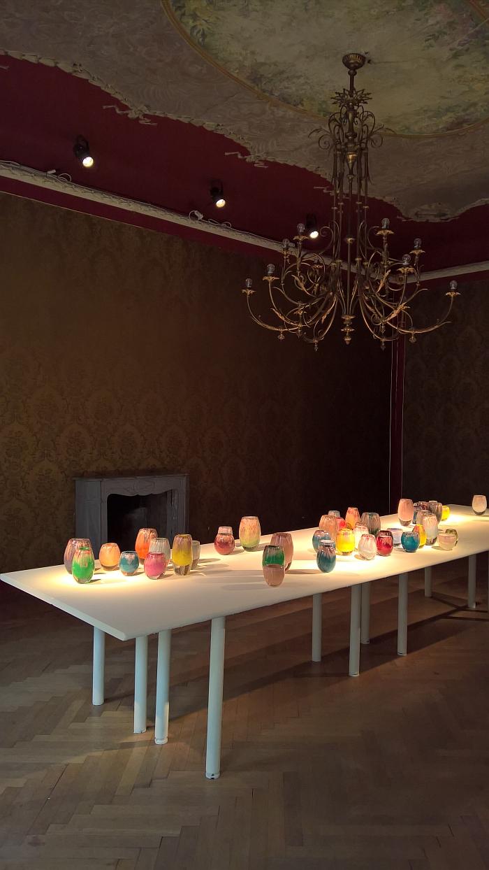 84.2 Copper Mesh Glass Vase collection by Omer Arbel, Milan Design Week 2018
