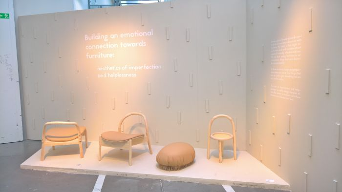 Building an emotional connection towards furniture Aesthetics of imperfection and helplessness by Teemu Perttunen, as seen at Konstfack Degree Exhibition 2018, Stockholm
