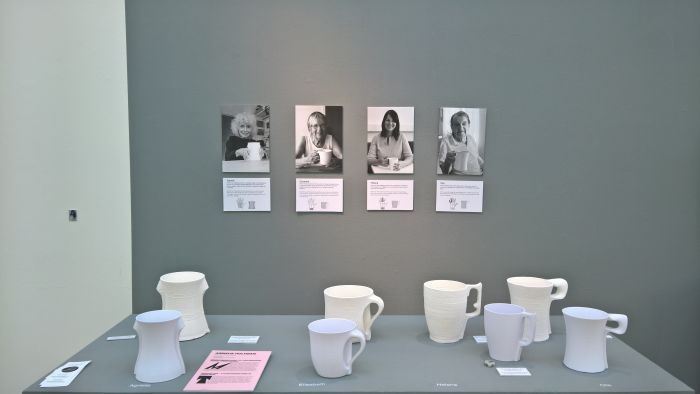 Individual Cups - A future scenario based on human needs by Annelie Hultman, as seen at Konstfack Degree Exhibition 2018, Stockholm