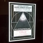 Illuminated AEG advert from 1907, as seen at Peter Behrens. #all-rounder, the Museum für Angewandte Kunst Cologne