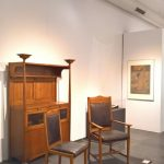 Furniture created by Peter Behrens for Johannes Geller (1899-1900), as seen at Peter Behrens. #all-rounder, the Museum für Angewandte Kunst Cologne