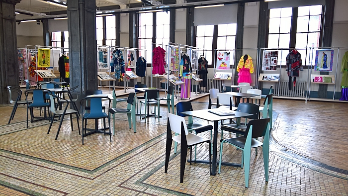 People often ask how they can intice us to view their fashion graduation showcases. Would cafe populated by works from two of the most important and intersting French design studios help?, the ask.....