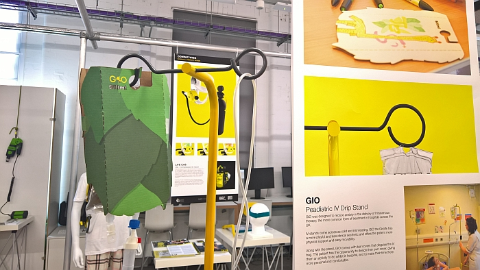 GIO Paediatric IV Drip Stand by Louis Block, as seen at Delivery, Creative Degree Show, Sheffield Institute of Arts