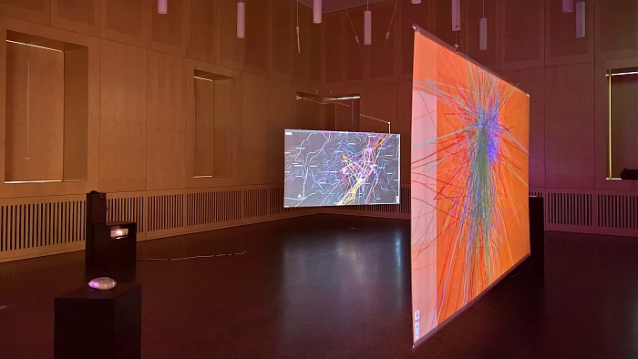 A display of tracking profile maps on show at the StadtPalais, as seen during Freiheit 2.0 StuttgartA display of tracking profile maps on show at the Stadt Palais, as seen during Freiheit 2.0 Stuttgart