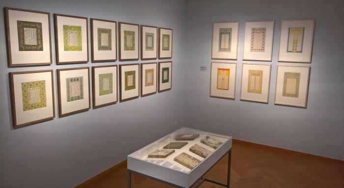Book designs by Anna Spikema and calendars by Gerarda de Lang-Rueter & Netty van der Waarden, as seen at Art Nouveau in Nederland, The Gemeentemuseum Den Haag