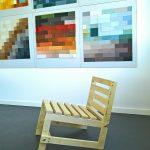 The anonymous Low Chair, as seen in the class Objekt/Raum/Farbe, Folkwang Universität der Künste Essen 2018 Rundgang