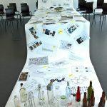 The development process of a gin bottle in the class Gestaltung und Innovation, as seen at the Folkwang Universität der Künste Essen 2018 Rundgang
