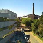 Essen's future meets Essen's past......Folkwang Universität der Künste Essen Quartier Nord on te Zeche Zollverein ex-colliery site