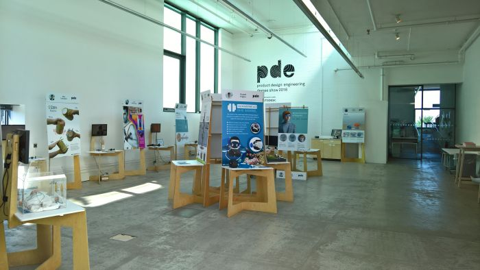 Product Design Engineering showcase, as seen at Glasgow School of Art Degree Show 2018