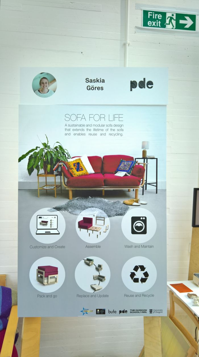 Sofa for Life by Saskia Göres, as seen at Glasgow School of Art Degree Show 2018