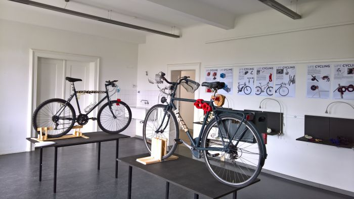 Presention of the project Life Cycling, as seen at Rundgang 2018, Universität der Künste Berlin