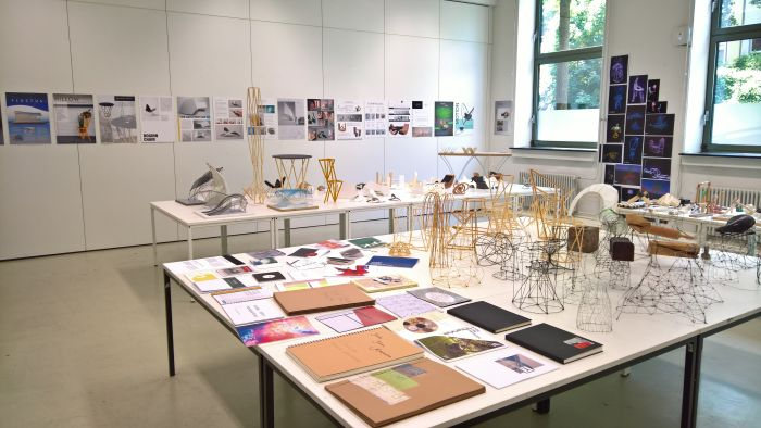 Presentation of the design fundamentals class Colour Form Composition, as seen at 2018 Summer Semester Exhibition, FH Aachen