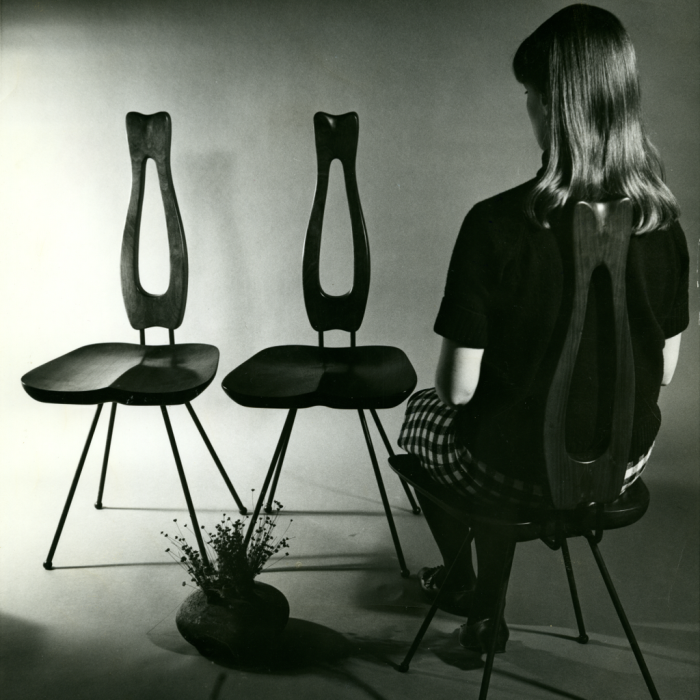 Samisen dining chairs by Victor J. Papanek (Photo © University of Applied Arts Vienna Victor J. Papanek Foundation, courtesy Vitra Design Museum)