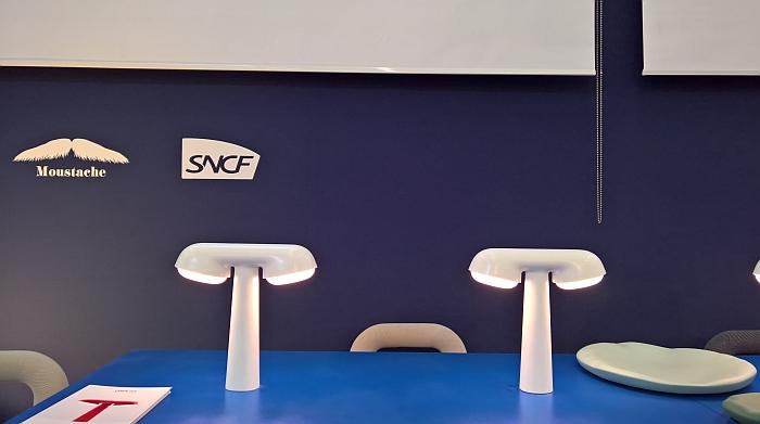 TGV lamp by Ionna Vautrin for Moustache X SNCF, as seen at Maison et Objet Paris Autumn 2018