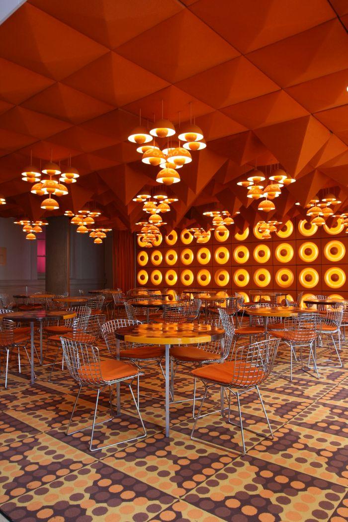The Spiegel Canteen by Verner Panton, as seen at 68. Pop und Protest Museum für Kunst und Gewerbe Hamburg