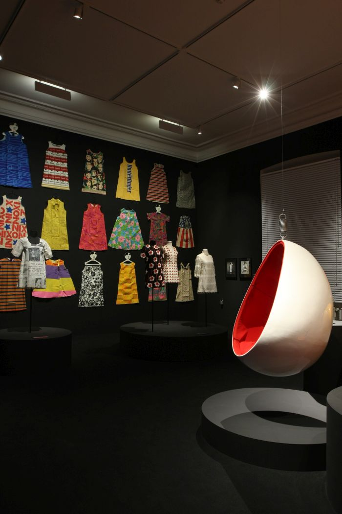 Paperdresses and an Egg by Henrik Thor-Larsen, as seen at 68. Pop und Protest Museum für Kunst und Gewerbe Hamburg