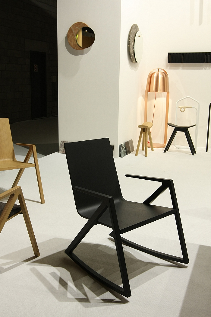 Félix Rocking Chair by Frédéric Richard for PER/USE, as seen at Biennale Interieur Kortrijk 2018