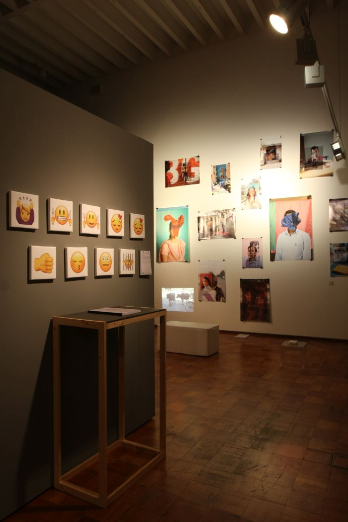 Emojis die Sprache der zukunft by Michelle Lennartz (RFH) & My Lovely India by Silviu Guiman (KISD), as seen at Kölner Design Preis/Toby E. Rodes Award 2018 Exhibition, MAKK Cologne