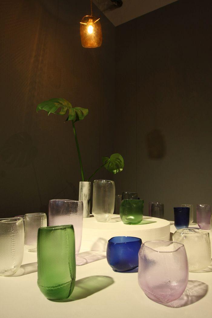3rd Prize: Geplante Zufälle aus Glass by Naja Schulz (KISD), as seen at Kölner Design Preis/Toby E. Rodes Award 2018 Exhibition, MAKK Cologne