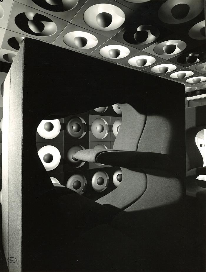 A view of Verner Panton's installation at Qu'est-ce que le design Musée des Arts Décoratifs Paris 1969 (Photo © and courtesy Musée des Arts Décoratifs Paris)