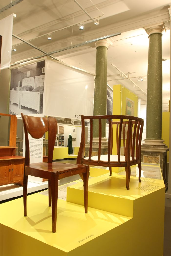 ...and together with a 1905 chair by Gertrud Kleinhempel....