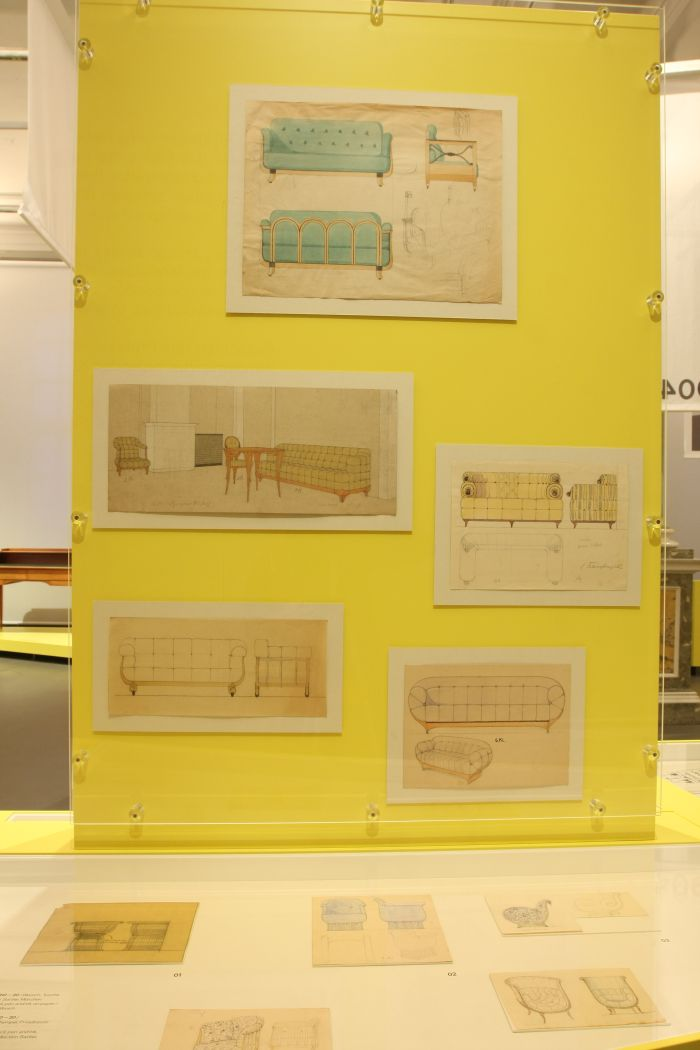 ....and sketchs for more furniture, as seen at Against Invisibility – Women Designers at the Deutsche Werkstätten Hellerau 1898 to 1938, Japanisches Palais Dresden