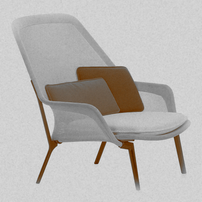 Slow Chair by Ronan et Erwan Bouroullec for Vitra (original photo from The Historia Supellexalis)