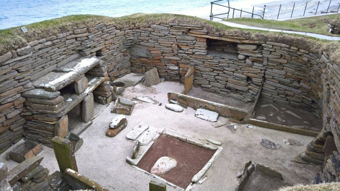 The smow blog office as from April 2019..... (with apologies to the neolithic community at Skara Brae Orkney)