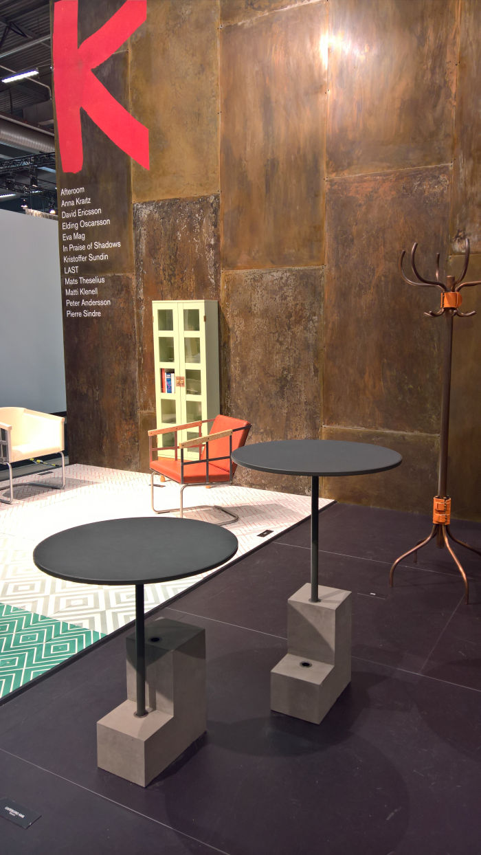 Café Table NM by Afteroom for Källemo, as seen at Stockholm Furniture Fair 2019