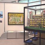 Plans, photos and a model of Aachen Universitätsklinikum, as seen at Die Neue Heimat (1950–1982). A Social Democratic Utopia and Its Buildings, the Architekturmuseum der TU München