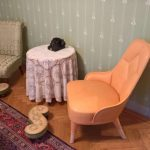 Emma chair by Färg & Blanche for Gärsnäs, and Slipper chair, as seen at The Baker's House, Stockholm Design Week 2019