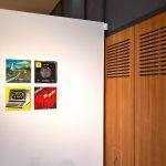 Kraftwerk album covers, as seen at Bauhaus Imaginista, Haus der Kulturen der Welt, Berlin