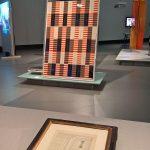 Maghrebian carpet patterns by Paul Klee and a design by Anni Albers, as seen at Bauhaus Imaginista, Haus der Kulturen der Welt, Berlin