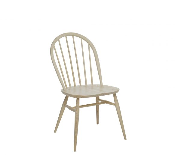 The Ercol Windsor Chair, a design from 1877, employed in the 1943 Utility Furniture catalogue, still on sale today....