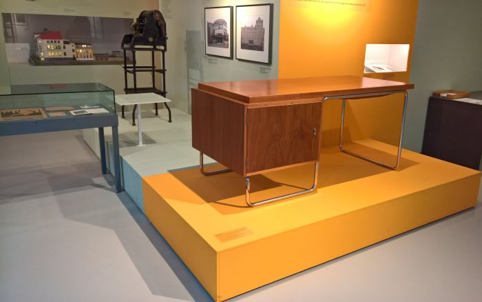 Steel tube desk by Erich Dieckmann for Cebaso , as seen at Small Apartment, Department Store, Power Station - New Building and New Living in 1920's Halle, the Stadtmuseum Halle