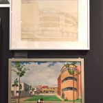Sketch of Römerstadt, and painting by Hermann Treuner, as seen at New Human, New Housing - Architecture of the New Frankfurt 1925–1933, the Deutsches Architekturmuseum Frankfurt