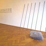 Hole-o-Fame by Melanie Schulz and Bist du morgen noch die gleiche Person? by Elektra Tzamouranis, as seen at täglich geöffnet, Burg Galerie im Volkspark, Halle